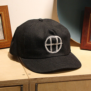 [허프] DENIM CIRCLE H SNAPBACK (BLACK DENIM) - HFHT61007BLK [허프 HUF 스냅백/모자]