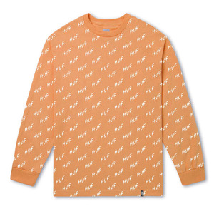 [허프] [HUF] BOLT ALL-OVER LONG SLEEVE TEE (PINK) - HFTSTS00326PK [허프 HUF 긴팔티/맨투맨]